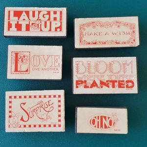 MARY ENGELBREIT• 6 rubber stamps•Retired?•UNUSED•